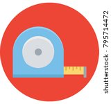 measuring tape colored... | Shutterstock .eps vector #795714472