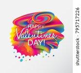 valentine's day artistic hand... | Shutterstock . vector #795717226