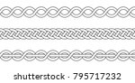 macrame crochet weaving  braid... | Shutterstock .eps vector #795717232