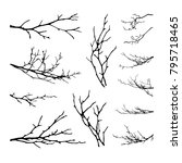 Realistic Set Of Tree Branches...
