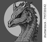 dragon head illustration. | Shutterstock .eps vector #795720142