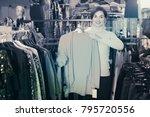 adult female customer deciding... | Shutterstock . vector #795720556