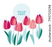 abstract modern vivid floral... | Shutterstock .eps vector #795723298