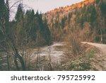 magnificent natural landscapes... | Shutterstock . vector #795725992