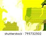 glitch art  led analog tv test  ... | Shutterstock . vector #795732502