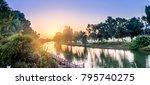 Sunset Over Yarkon Park In Tel...