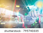 stock market digital graph... | Shutterstock . vector #795740335