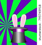 rabbit ears appear from the... | Shutterstock .eps vector #795745918