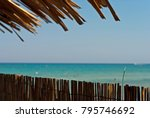 exotic vacation at a tropical...   Shutterstock . vector #795746692