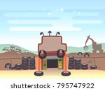 illustration of a junk shop... | Shutterstock .eps vector #795747922