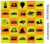transport vector icons set....   Shutterstock .eps vector #795749446