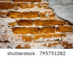 old style red brickwork... | Shutterstock . vector #795751282
