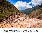 maras salt ponds in peru  south ... | Shutterstock . vector #795752365
