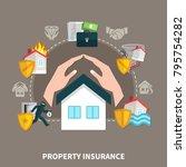 property insurance against...   Shutterstock .eps vector #795754282