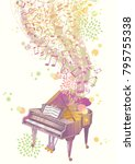 allegory of gorgeous music... | Shutterstock .eps vector #795755338