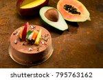 fruit cake still life | Shutterstock . vector #795763162