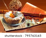 fruit cake still life | Shutterstock . vector #795763165
