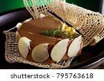 chocolate cake still life | Shutterstock . vector #795763618