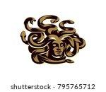 medusa of the gorgon. vector... | Shutterstock .eps vector #795765712