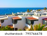 white houses with terraces in... | Shutterstock . vector #795766678