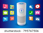 voice control user interface...   Shutterstock .eps vector #795767506