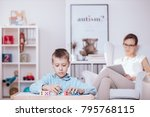 in the foreground  autistic...   Shutterstock . vector #795768115