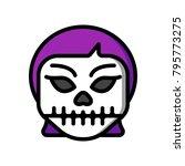 horror emoji   skull girl | Shutterstock .eps vector #795773275