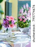 beautiful white flowers peonies ... | Shutterstock . vector #795774676
