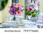 beautiful white flowers peonies ... | Shutterstock . vector #795774682