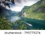beautiful landscape in... | Shutterstock . vector #795775276