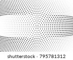 abstract halftone wave dotted... | Shutterstock .eps vector #795781312