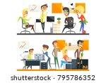office team two illustrations... | Shutterstock .eps vector #795786352