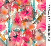 abstract watercolor seamless... | Shutterstock . vector #795794332