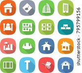 flat vector icon set   home... | Shutterstock .eps vector #795799156