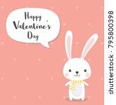 rabbit cartoon character for...   Shutterstock .eps vector #795800398