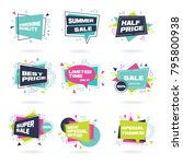 big set of colorful abstract... | Shutterstock .eps vector #795800938