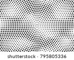 abstract halftone dotted grunge ... | Shutterstock .eps vector #795805336
