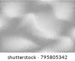 abstract halftone dotted grunge ... | Shutterstock .eps vector #795805342