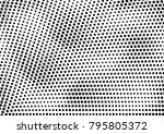 abstract halftone dotted grunge ... | Shutterstock .eps vector #795805372