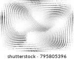 abstract halftone dotted grunge ... | Shutterstock .eps vector #795805396