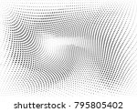 abstract halftone dotted grunge ... | Shutterstock .eps vector #795805402