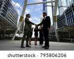 two business man with formal... | Shutterstock . vector #795806206