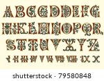 alphabet medieval and roman... | Shutterstock .eps vector #79580848