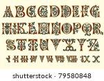 alphabet medieval and roman... | Shutterstock .eps vector #79580848