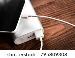 battery bank for charging... | Shutterstock . vector #795809308