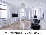 living room interior in modern... | Shutterstock . vector #795810676