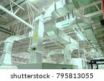 duct ducting  industrial air... | Shutterstock . vector #795813055