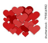 valentines composition of the... | Shutterstock . vector #795816982