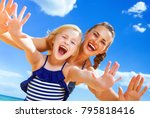 sun kissed beauty. portrait of... | Shutterstock . vector #795818416