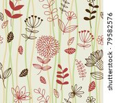 floral seamless pattern for... | Shutterstock .eps vector #79582576
